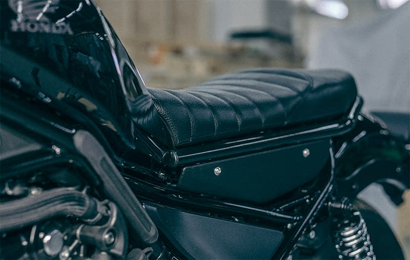Honda Rebel Scrambler Kit seat.